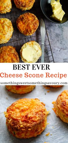 These cheese scones are tall, light, fluffy and packed full of mature cheddar cheese - they really are the best cheese scone recipe I've ever made! # savoury Baking Best Ever Cheese Scones Scones Recipe Uk, Classic Scones Recipe, Scone Recipe Plain Flour, Simple Scone Recipe, English Scones, Savoury Baking, Healthy Baking, Savory Scones, Recipes