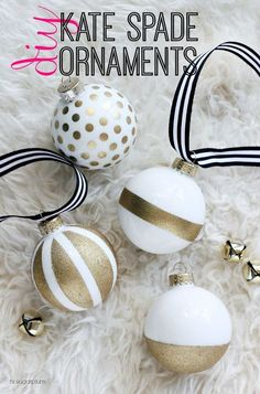 Christmas Craft Kate Spade Inspired Ornaments http://blog.blackboxs.ru/category/thanksgiving-day/