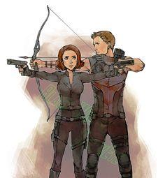 Natasha and Clint by ~lanimalu on deviantART