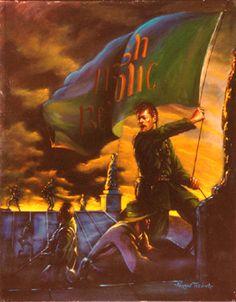 Norman Teeling | On View - Art Gallery - The 1916 Rising/Raising the Irish Republic Flag Ireland 1916, Irish Independence, Easter Rising, County Cork Ireland, Irish Pride, Irish American, Celtic Art, Art Gallery, Flag