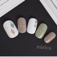 mirica nail (ネイル)|ネイル画像数国内最大級のgirls pic(ガールズピック) Fall Acrylic Nails, Fall Nail Art, Fancy Nails, Love Nails, Stylish Nails, Trendy Nails, Manicure E Pedicure, Creative Nails, Simple Nails