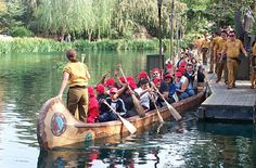 Davy Crockett Canoes at Disneyland. One of my favorite rides.  U actually have to row.