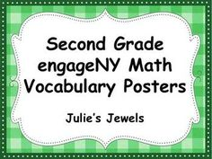 Engaging Math Second Grade Vocabulary Posters