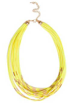 Amber Necklace - Yellow