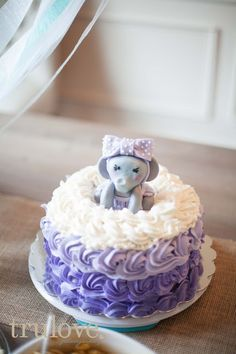 Baby Shower, baby girl, baby shower decorations, gray white purple and lavender, elephant cake