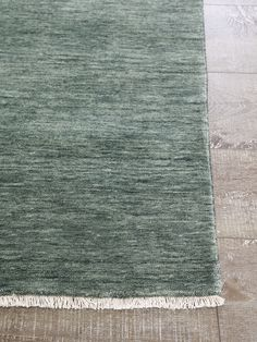 Handloom knotted wool rug, with fringe. Australian Artists, Home Rugs, Furniture Collection, Handmade Rugs, Wool Rug, Diva, Branding Design, Green, Sydney