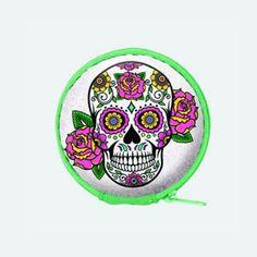 Sales Producers Inc. - Spoontiques - Sugar Skulls Earbuds with case Sugar Skulls, Candy Skulls, Sugar Skull, Sugar Skull Face