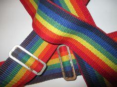 COOL 80s iconic RAINBOW vintage NICHOLAS suspenders MORK URKLE USA LGBT PRIDE…