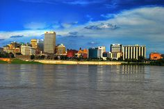 Memphis TN on the banks of the Mississippi River.