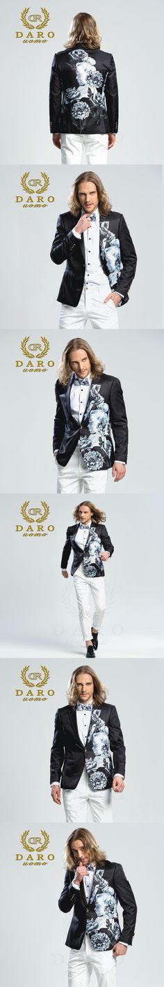 DARO 2018  Men's Printed Blazer casual Slim Fit  Suit Jacket Men Spring Autumn Trend Blazer Fashion Luxury Blazer Hombre DRJ8206