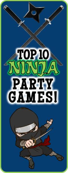 Here are a list of fun ninja party games and ideas that would be perfect for a ninja themed birthday! Here are a list of fun ninja party games and ideas that would be perfect for a ninja themed birthday! Ninja Turtle Party, Ninja Turtle Birthday, Ninja Turtles, Ninja Birthday Cake, Ninja Birthday Parties, Birthday Party Games, Birthday Kids, Birthday Board, Carnival Birthday