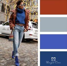 Blue Pallets, Matching Colors, Color Palettes, Color Combinations, Style Ideas, Women's Fashion, Paint, Colour, Winter