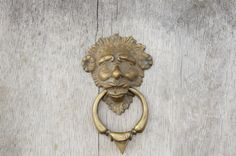 Vintage 70s-80s Gargoyle or Green Man Brass by SycamoreVintage