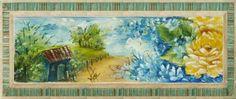 pintura feita em #toalhademão para # lembrancinha de #igreja