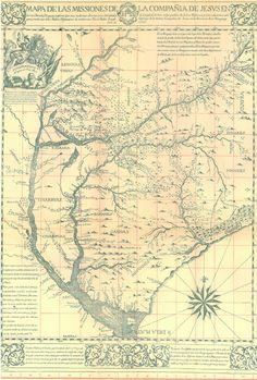 Map of Compañía de Jesús, actually in the Argentina northeast, by José Quiroga (1749)