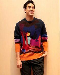 Nadech Oc, Aesthetics, Men Sweater, Long Sleeve, Sleeves, Model, Sweaters, Mens Tops, T Shirt