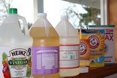 Only 9 ingredients you need to clean your house Vinegar, Dr. Bronners, Sal Suds, Baking Soda, Washing Soda, Borax, Lemon Juice, Essential Oils, Hydrogen Peroxide