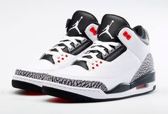 #AirJordan III White Grey Infrared #sneakers