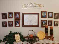 How to make a family history wall in your home
