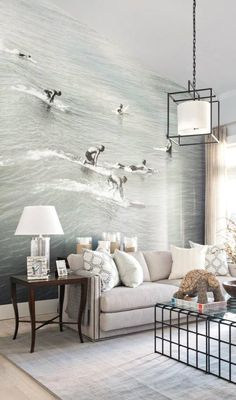 Surfs Up! This wall paper adds dimension to any room!