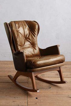 Premium Leather Finn Rocking Chair
