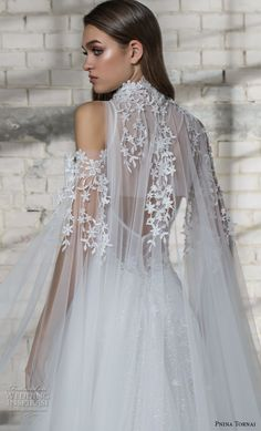 pnina tornai 2019 love bridal cold shoulder illusion high neck deep sweetheart neckline heavily embellished bodice romantic princess a line wedding dress sheer lace back chapel train (6) zbv -- Pnina Tornai 2019 Wedding Dresses | Wedding Inspirasi #wedding #weddings #bridal #weddingdress #bride ~