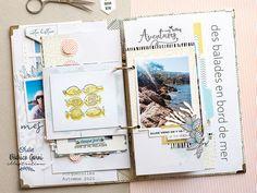 Mini Albums Scrapbook, Scrapbooking, Illustrations, Creations, Beach, Inspiration, Art, Digi Stamps, Minis