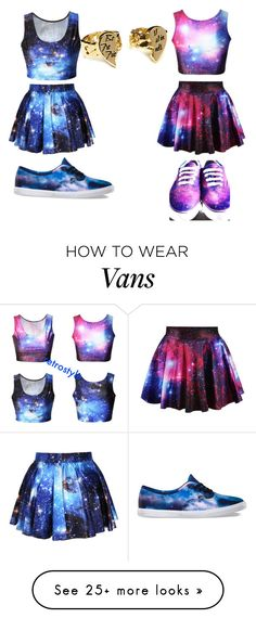 """""""GALAXY BESTIE (left) Hailey and me(right)"""" by sweetea02 on Polyvore featuring Vans"""