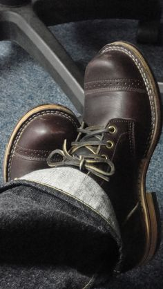 Viberg boots and jeans