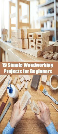 19 Simple Woodworking Projects for Beginners #woodworkingbeginners
