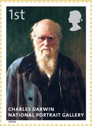 The National Portrait Gallery Celebrating 150 years Charles Darwin Charles Darwin, Robert Darwin, Uk Stamps, Postage Stamps, Great Britan, Theory Of Evolution, First Day Covers, National Portrait Gallery, Penny Black