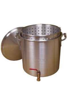 XL-PARTY-SIZE-120-QT-Crawfish-Boil-Pot-w-Basket-Lobster-Steamer-Fish-Fry-Camp