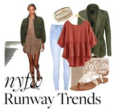 """""""NYFW runway"""" by brooklynslayer ❤ liked on Polyvore featuring Marissa Webb, LE3NO, Glamorous, Agent 18, Stuart Weitzman and Kendra Scott"""