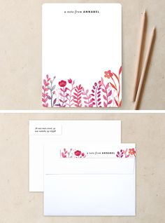"""""""Handpainted Botanicals"""" personal stationery by Hooray Creative at minted.com"""