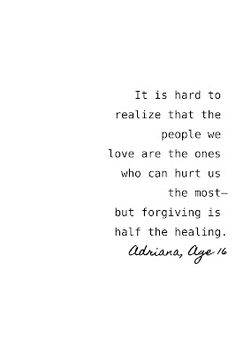 More people need to realize that hurt is inevitable. It's all in how you handle it.