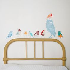 Image of Twitters (earthy) fabric wall decals by love Mae