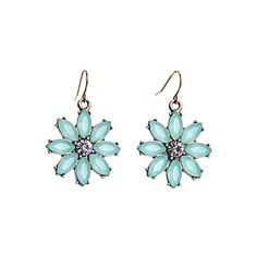 Tiny Floral Pendant Earrings (290.270 COP) ❤ liked on Polyvore featuring jewelry, earrings, earring pendants, floral pendant, pendant earrings, pendant jewelry and floral earrings