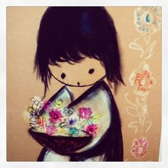 -Boy with Flowers