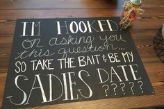 Sadie Hawkins dance proposal made for my date. Of course he said yes!