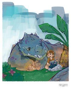 Dinosaurs & Monsters by Tyler Lederer, via Behance