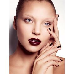 Glossy Lips and Nails ❤ liked on Polyvore