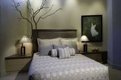 Master Bedroom: Troy Zimmerman Interior Design  Photography Studio  Kaminsky Productions  Bed Spread: Hibiscus - Sandstone