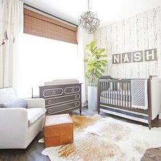 Rustic Boy Nursery with Newport Cottages Marcel Crib
