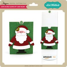Double Sliding Santa Gift Card Holder - Lori Whitlock's SVG Shop