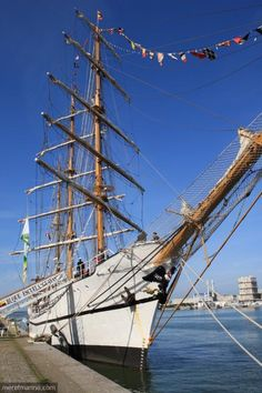 The sail training vessels Guayas (Ecuador) in stopover to Le Havre