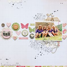 Love this layout, love the white space, ink drops    ,embellishments and journaling- so yeah pretty much everything about it!.