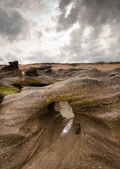 rocks, storm clouds, washington oaks state park, palm coast FL