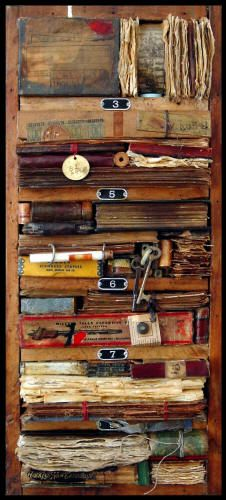 ⌼ Artistic Assemblages ⌼ Mixed Media, Journal, Shadow Box, Small Sculpture Collage Art - Annie Morgan - Ockam's Library