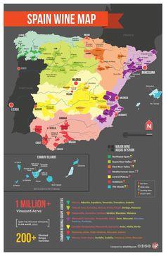 Spain wine regions.