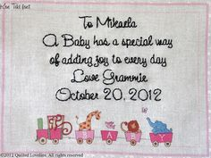 Baby Quilt Label   Animal Train Custom Made  by TheQuiltLabelLady, $11.00
